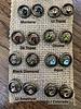 Rebel Designs Rebel Circle Stone Swarovski Crystal 3089 Earrings