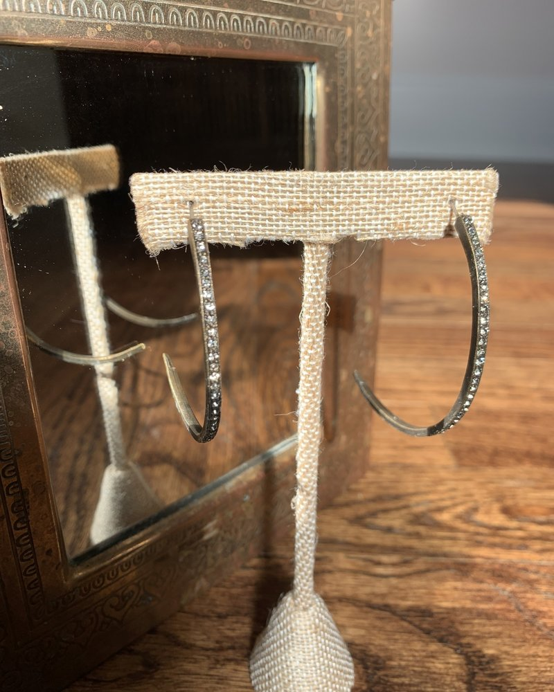 Rebel Designs Rebel Semi Circle Crystal Earrings