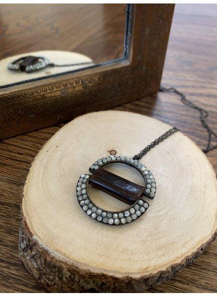 Rebel Designs Double Semi Circle Necklace 1819