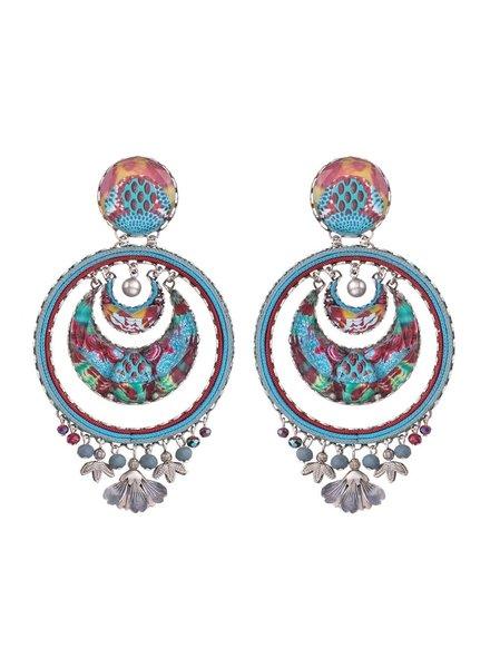 Ayala Bar Blue Castle Earrings