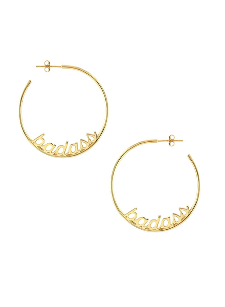 Kris Nations Badass Hoop Earrings