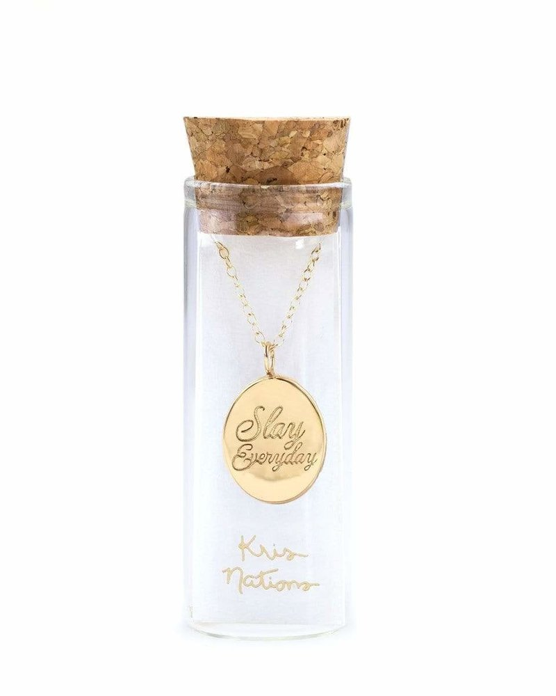 Kris Nations Kris Nations Slay Everyday Script Necklace