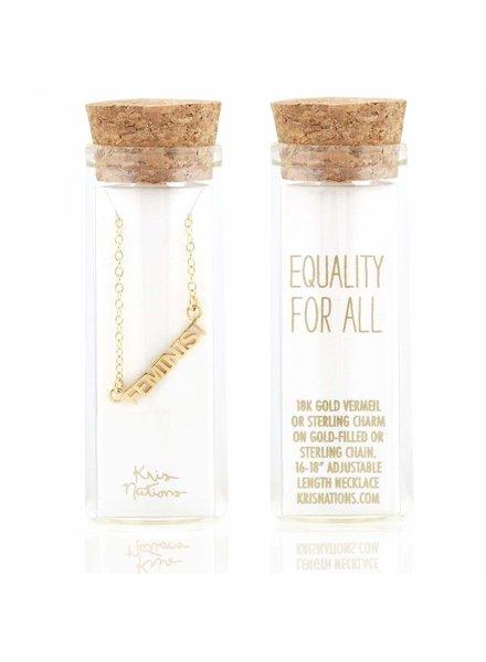 Kris Nations Feminist Script Necklace