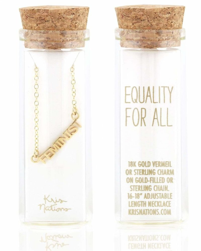 Kris Nations Kris Nations Feminist Script Necklace