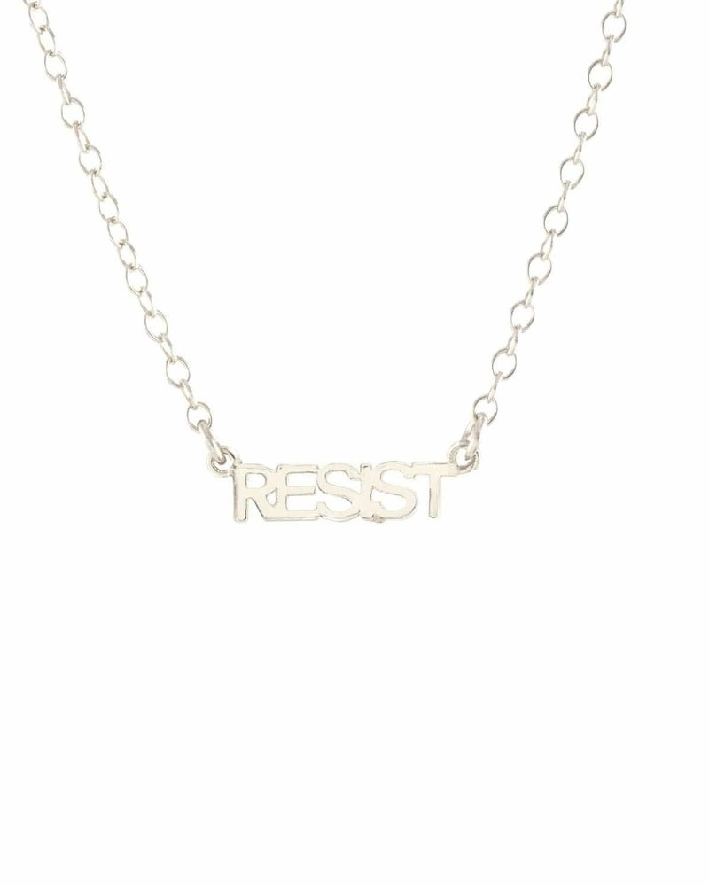 Kris Nations Kris Nations Resist Script Necklace