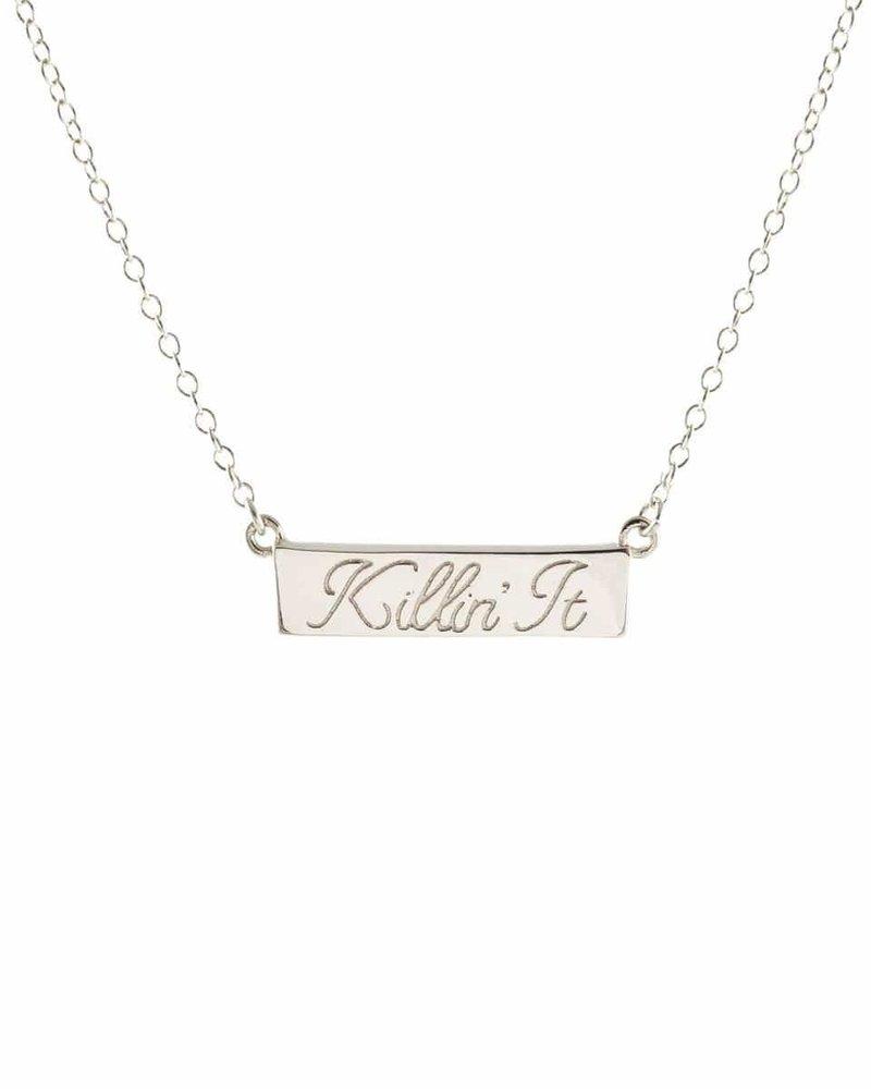 Kris Nations Kris Nations Killin' It Script Necklace