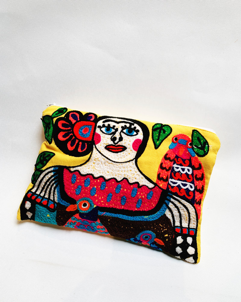 Frida Embroidered Pouch