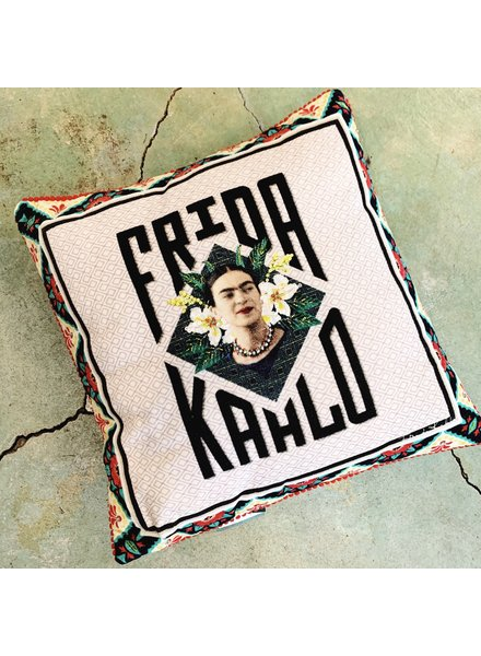 Frida Kahlo Name Ivory Pillow