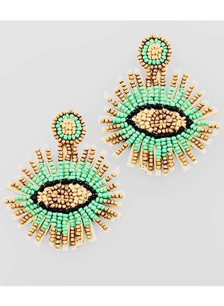 GS Evil Eye Beaded Earrings