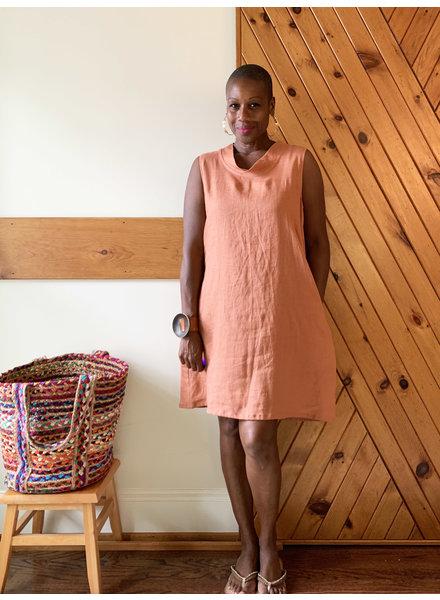 Just Jill Bias Collar Tunic Dress