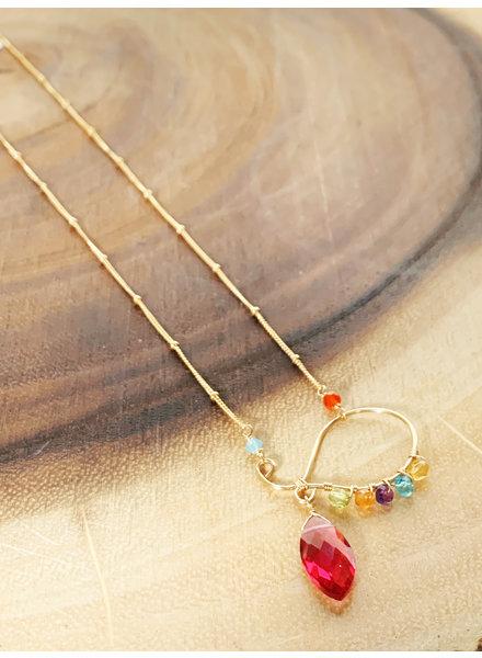 Anna Balkan Jewelry Swirls and Gems Necklace