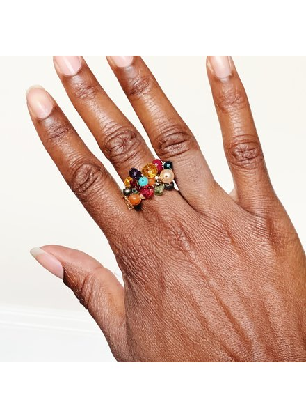 Anna Balkan Jewelry Multigem Ring