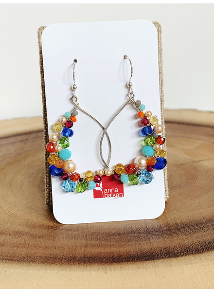 Anna Balkan Jewelry Signature Multigem Hoops