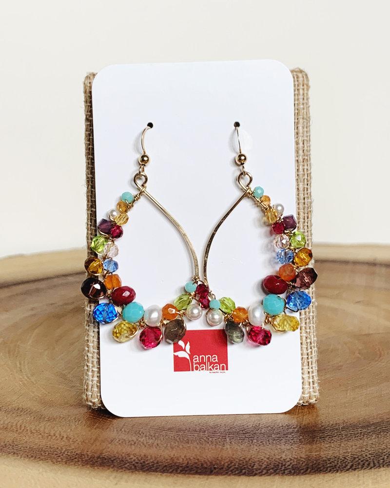 Anna Balkan Jewelry Anna Balkan Signature Multigem Hoops
