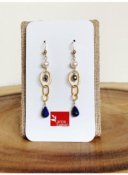 Anna Balkan Jewelry MIni Links Gems Earrings