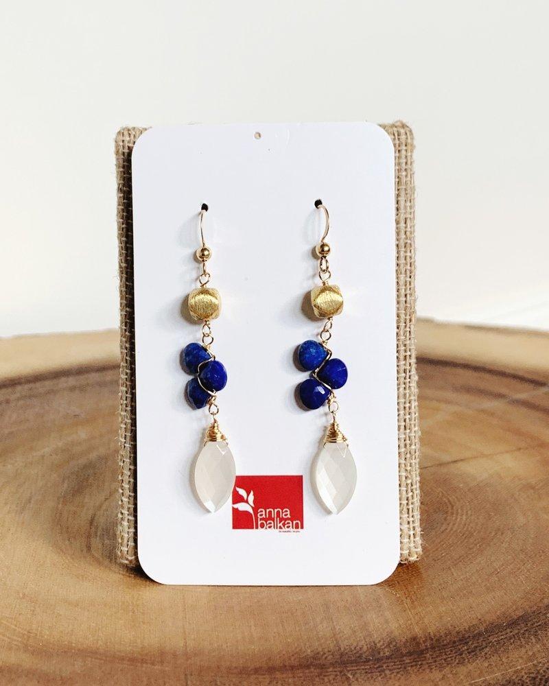 Anna Balkan Jewelry Anna Balkan Trigem and Marquee Earrings