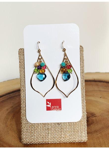 Anna Balkan Jewelry Petal Gem Earrings