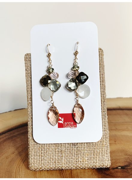 Anna Balkan Jewelry Mosaic Mix Marquee Drop Earrings