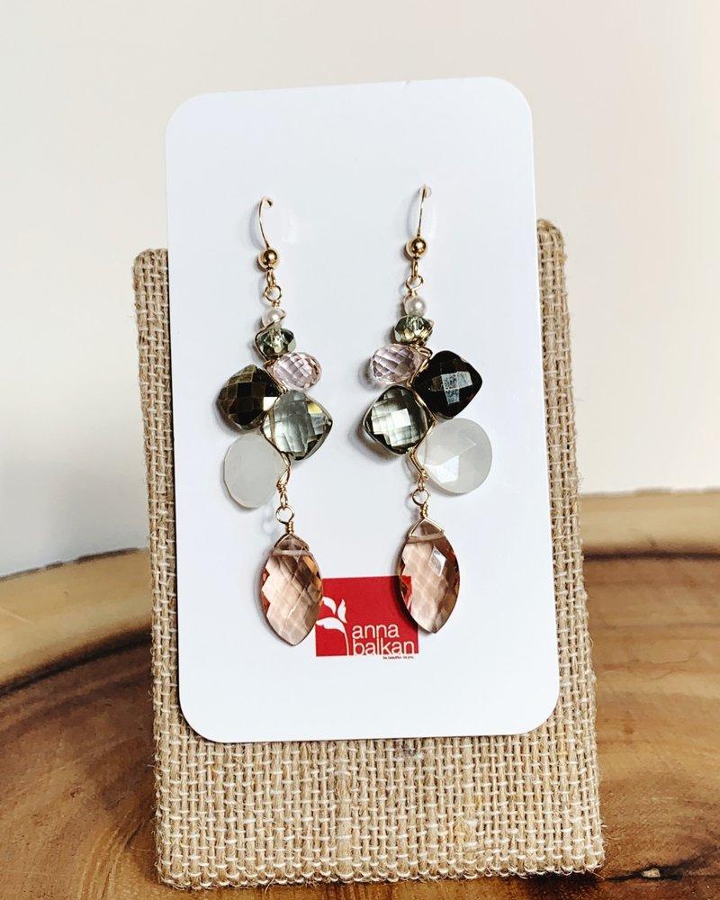 Anna Balkan Jewelry Anna Balkan Mosaic Mix Marquee Drop Earrings