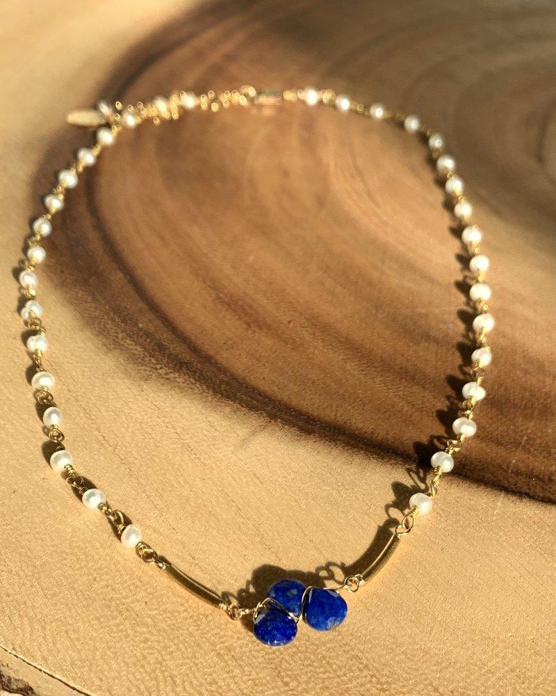 Anna Balkan Jewelry Anna Balkan Mini Tri-gem w/ Element on Rosary
