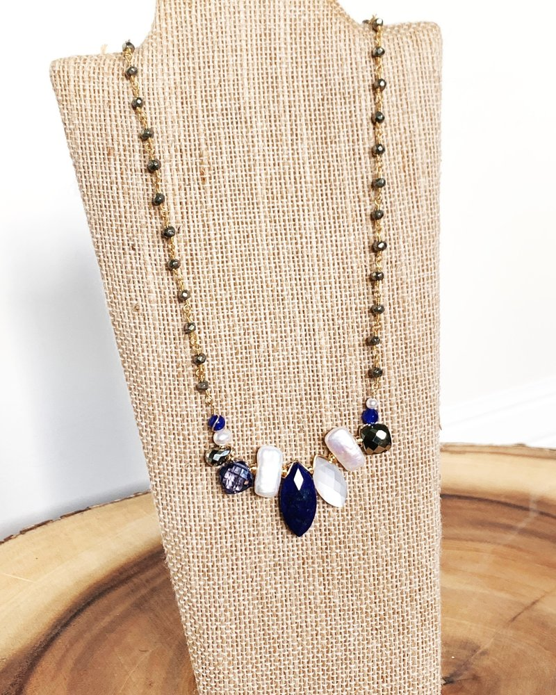 Anna Balkan Jewelry Anna Balkan Marquee Branch w/ Pearls Necklace