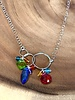 Anna Balkan Jewelry Anna Balkan 3 Links Mixed Shapes Gems Necklace Blue Quartz