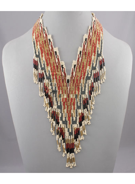 Seed Bead Bib Necklace