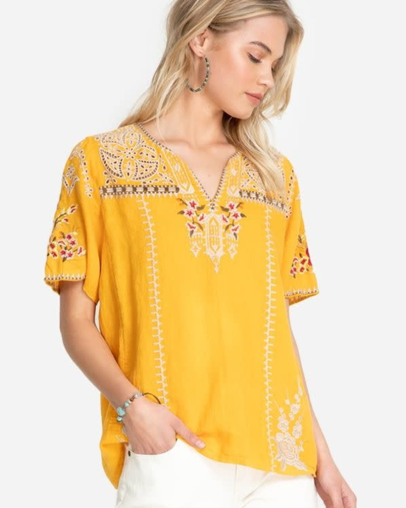 Johnny Was Johnny Was Izora Linen Flutter Blouse