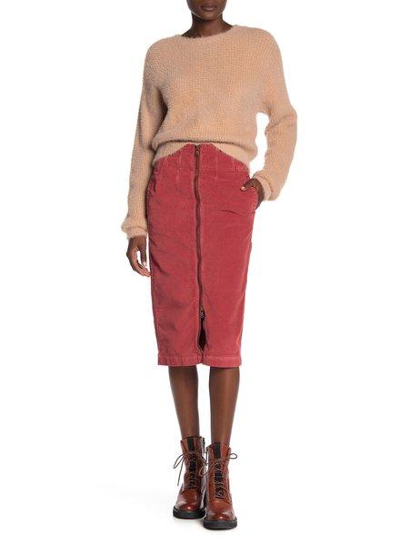Free People Corduroy Midi Skirt
