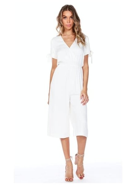 Bobi Cold Shoulder Jumpsuit