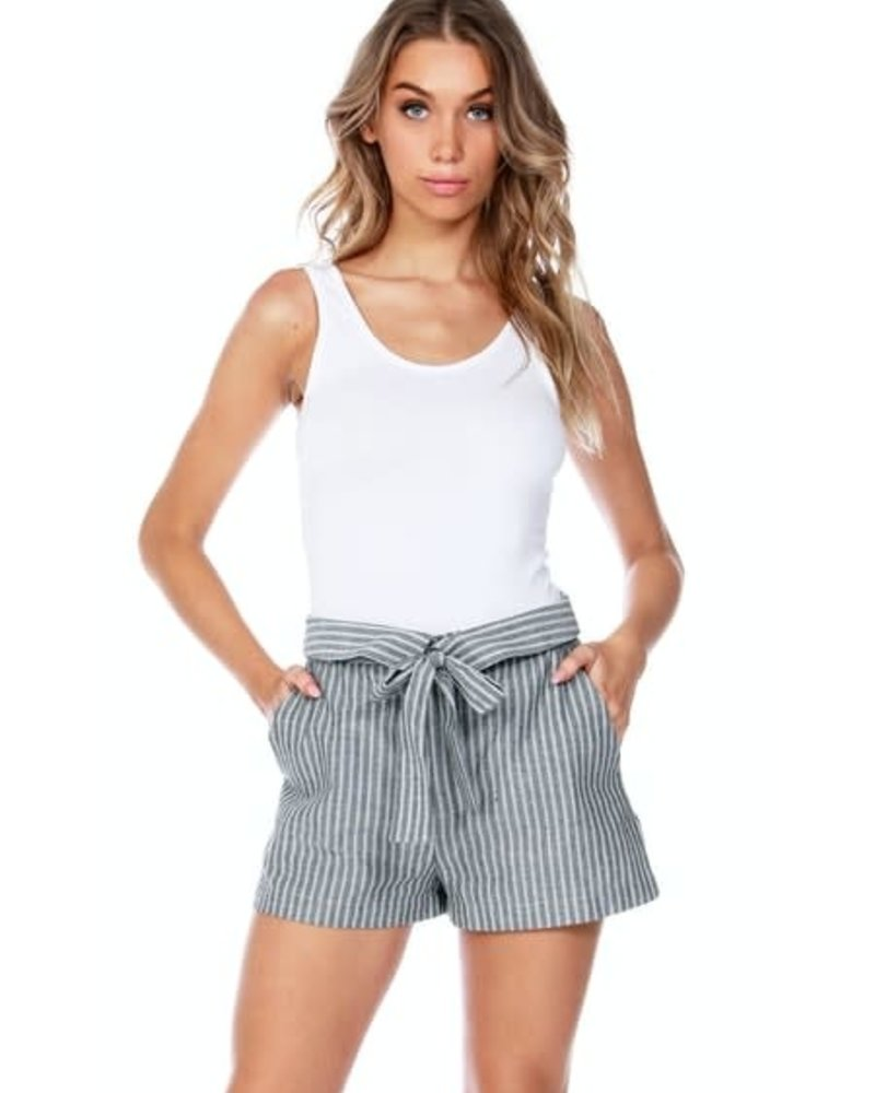 Bobi Bobi Tie Waist Shorts