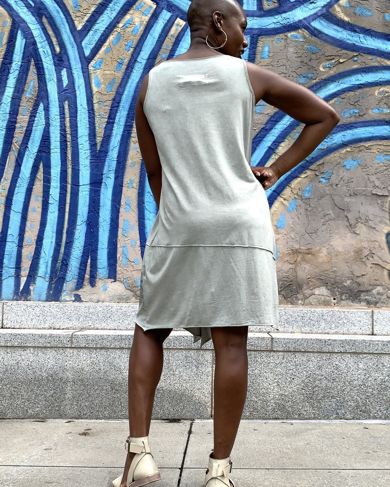Luukaa Luukaa Gloria Tunic Print Tank Dress