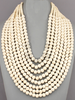 Eight Layer Wood Bead Necklace