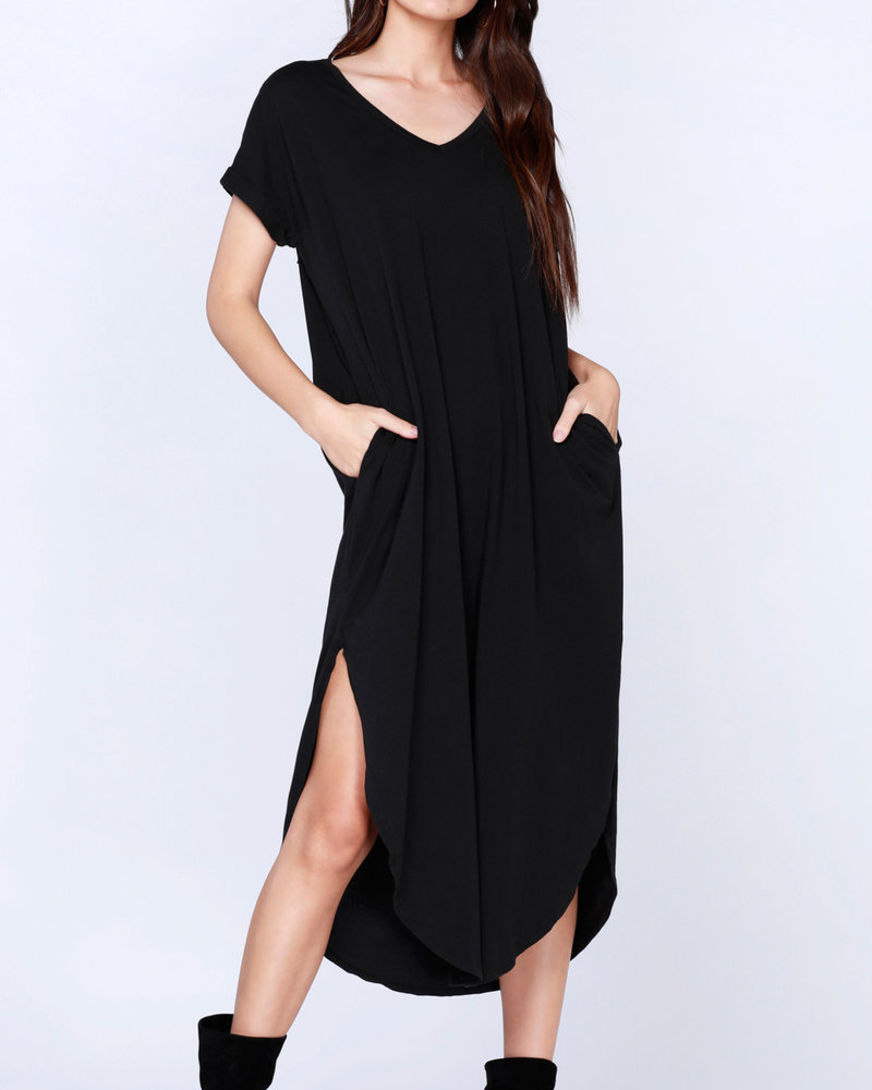Bobi Bobi Curved Hem Dress