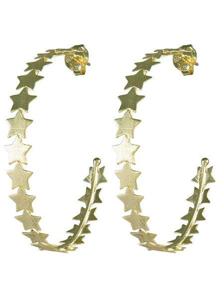 Sheila Fajl Hoops Corona Hoops With Stars