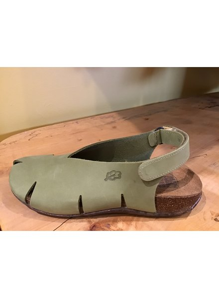 Slit Sling Back Sandal