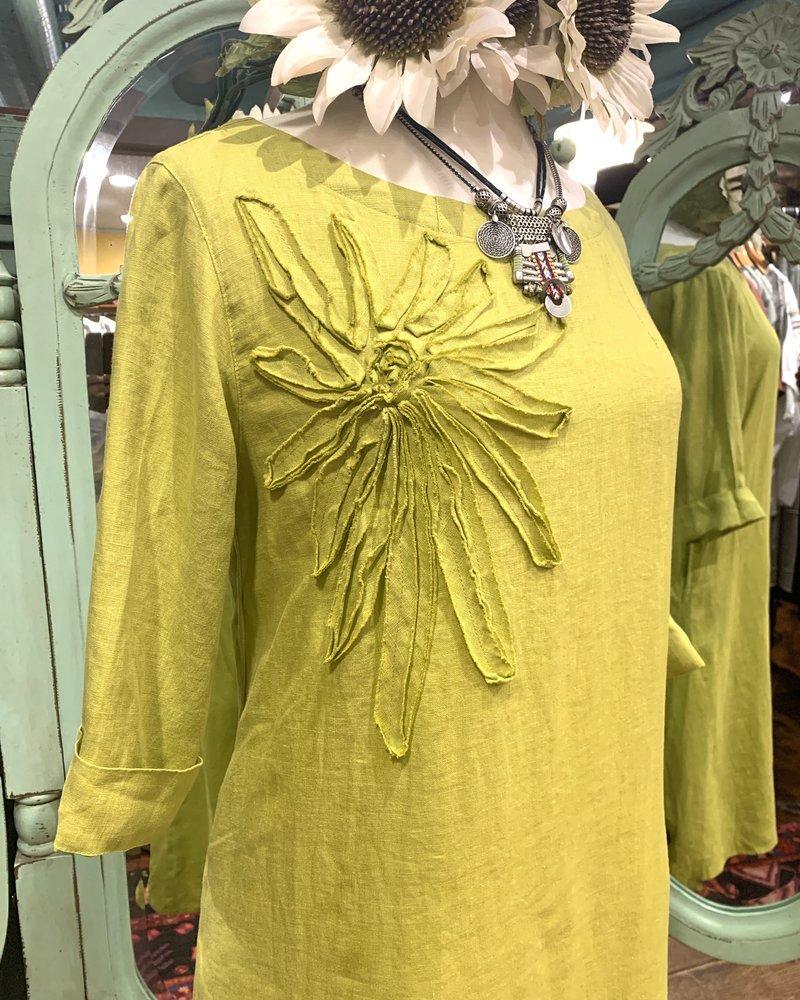 Kleen 3/4 Sleeve Flowers Dress
