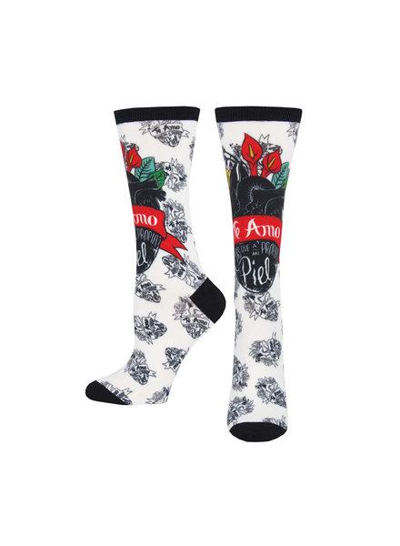 Sock Smith Te Amo Frida Women's Crew Socks