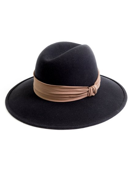 San Diego Hat Co Fedora with Twisted Knot Band