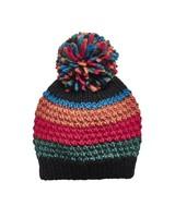 San Diego Hat Co Striped Pom Beanie