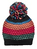 San Diego Hat Co SDH Striped Pom Beanie