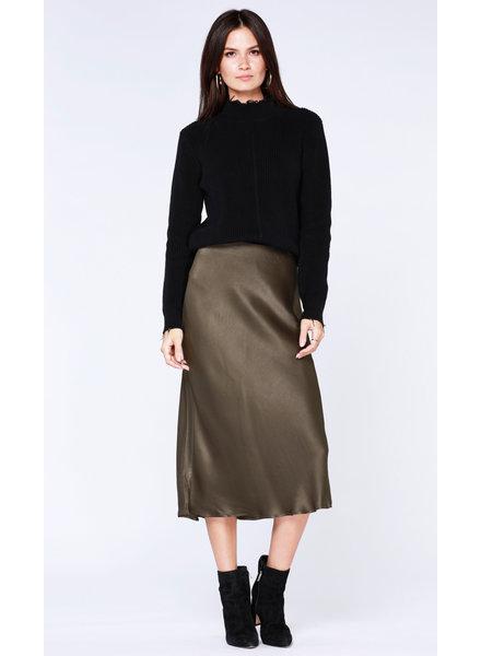 Bobi Satin Midi Skirt