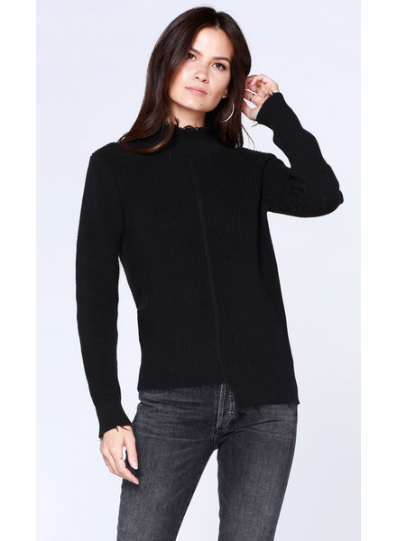 Bobi Step Hem Fray Sweater