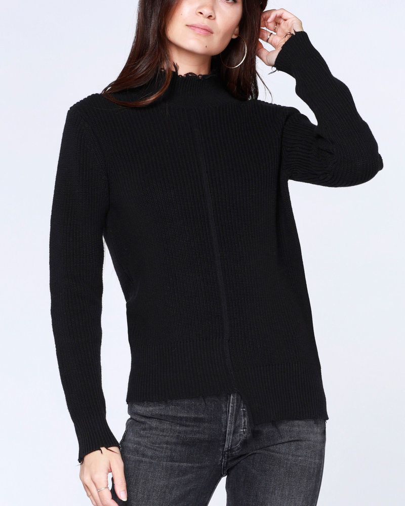 Bobi Bobi Step Hem Fray Sweater