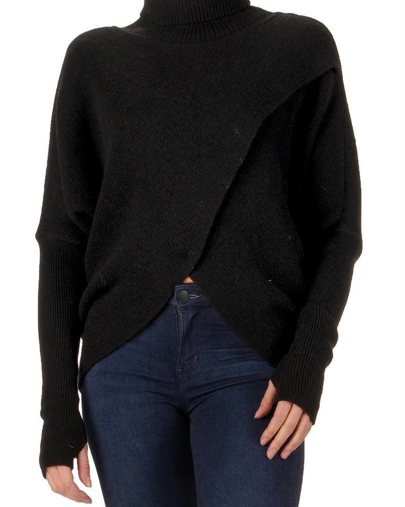 Elan Cross Front Sweater