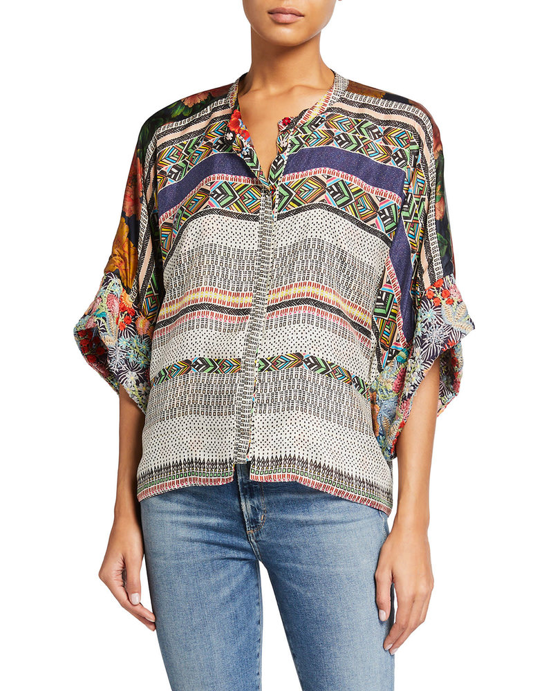 Johnny Was Johnny Was Lucasta Reversible Snap Blouse