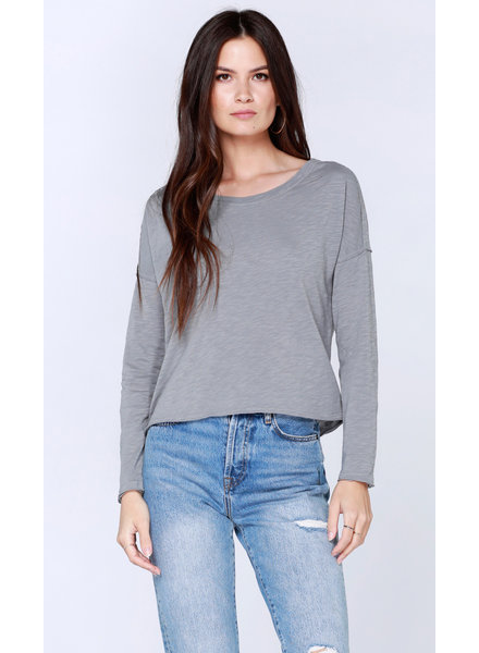 Bobi Long Sleeve Boat Neck Tee