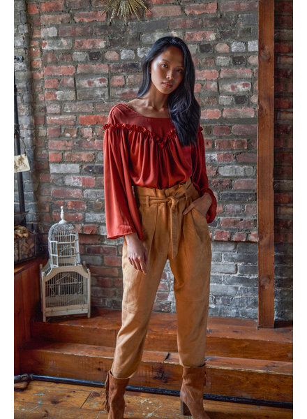 Free People Nightfall Vegan Suede Pant