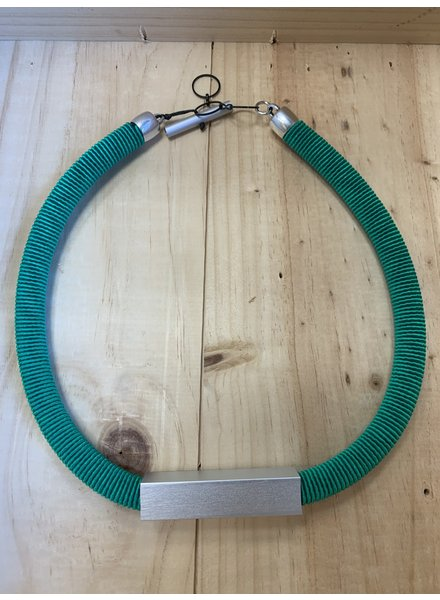 Christina Brampti Wrap Collar Necklace E Green