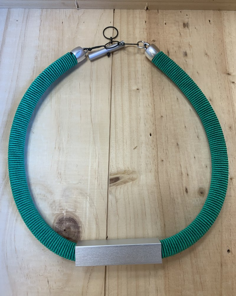 Christina Brampti Christina Brampti Wrap Collar Necklace E Green